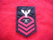 US Navy - Male CPO Fire Control Tech E-7 Crow RED Serge for Blazer or Dinner