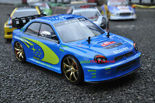 SUBARU IMPREZA stile 4WD RADIO R / C Auto Drift Car in Scala 1:10 4 EXTRA PNEUMATICI