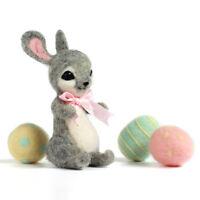 Easter Needle Felting Kits Easter Egg Rabbit 19 Microns Merino Wool Roving