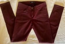 Just USA Black Label Maroon Skinny Jeans sz 27/5