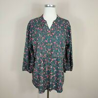 Matilda Jane Afternoon Stroll Top Blouse Floral Womens L Large NWT