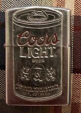 Rare! Vintage Coors Light Lighter Beer Can Silver Ooak No Spark