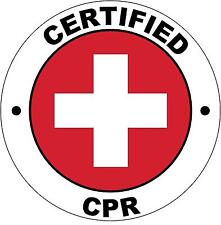 Hard Hat Certified CPR Sticker Sign Decal 50mm Public Safety WHS OHS