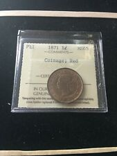 1871  Prince Edward Island ¢1 Cent, ICCS Graded, **MS-65** Coinage