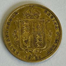 More details for queen victoria jubilee shield back gold half sovereign coin 1887