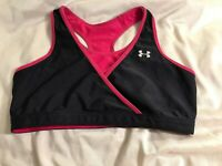 UNDER ARMOUR Women's Size S Yoga Workout Running Sports Black/pink Bra Top