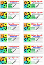 Practical Geocaching® – 12 Official Geocache Labels - GX Logo - Free Freight!