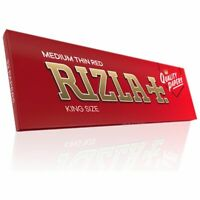 1 / 2 / 5 / 10 / 20 Rizla Red Kingsize Rolling Papers - Free UK Delivery
