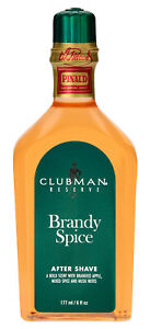 CLUBMAN BRANDY SPICE Aftershave Lotion Cologne 6 oz.