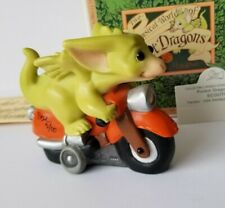 """""""Scooter"""" *Signed* Whimsical World of Pocket Dragons Flambro Real Musgrave w Box"""
