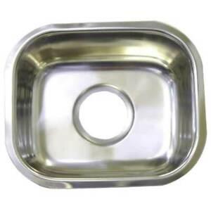 New Small Bar Single BOWL Inset Kitchen Laundry SINK TUB CM4 20L 405x355x160mm