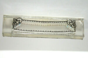 Clear Acrylic Stamp Scrapbooking PaperCrafts Blank Banner Baby Diaper Pins