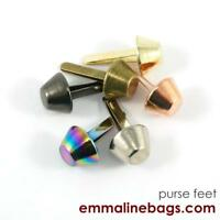 "14 mm (9/16"") Emmaline bags Bucket purse feet -  range of finishes"