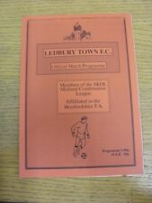1993/1994 Ledbury Town v Swift Personalised Products  . Footy Progs are pleased