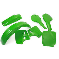 Kawasaki KX500 KX 250 1987 Plastic Kit Mudguard Side Panels Rad shrouds UFO NEW