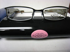 Phoebe Couture  Eyeglass Frames P206  BLACK  51-18-130 With  Case New