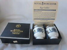 2 Royal Worcester PALMYRA single Egg Coddlers in Original Box with Instructions