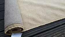Upholstery Fabric Cream Sand Beige Luxury Cotton Mix10m Roll Caravan Camper Boat