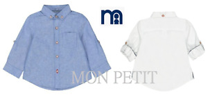 Boys shirt baby cotton oxford MOTHERCARE 3 m to 6 y long & short sleeve