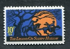 Error 1548  Black Color Shift  Sleepy Hollow  10 cent.    Issued in 1974.