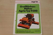 162200) Agria Mäher Typ 9300 Prospekt 01/1978