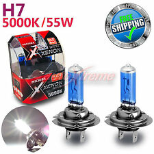 MICHIBA H7 55W 5000K Xenon SUPER WHITE Vision Halogen Light Bulbs High Beam 2PCS