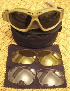 Genuine Army / Marine Issue Coyote / Tan Revision Bullet Ant Ballistic Goggles