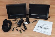 "Genuine Audiovox (PVS69701) 7"" Black Dual Screen Mobile DVD System w/ Manual"