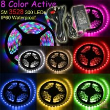 RGB 3528 LED Strip Flexible Lights Waterproof 5m 300 LEDs IR Remote Controller