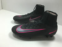 New Nike Youth Jr Mercurial SuperFly Soccer Cleats Balck/Pink 831943 006