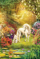 Jigsaw Puzzle Fantasy Enchanted Garden Unicorn 500 pieces NEW Made in the USA