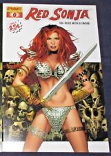 RED SONJA #0 (NM-) White cover by Greg Land! Dynamite Entertainment 2005