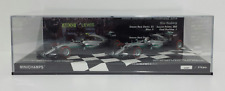 MINICHAMPS 1/43 SET MERCEDES W07 COSTRUCTOR WORLD CHAMPION 2016 ROSBERG HAMILTON