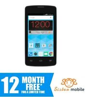 ZTE Quest (A) - Prepaid Cell Phone (12 months Free service + charger)