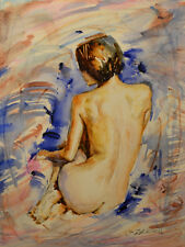 Contemporary Art/ Original Painting by American Artist Rukie Jackson /Nude