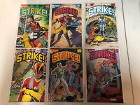 Strike! (1987) #1 2 3 4 5 6 1-6 VF/NM Complete Set Eclipse African American Hero