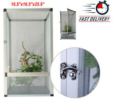 Reptile Pet Enclosure Lizard Spider Snake Cage Mesh Screen Tank 16.5x16.5x25.9""
