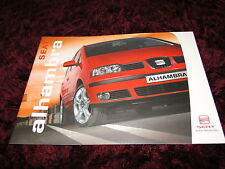 Seat Alhambra Brochure 2005 - 01/05 Issue