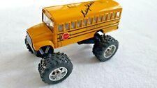 "Key West School Bus Big Wheel 5"" Yellow Kinsfun Diecast Top Stop Sign Spring Sus"
