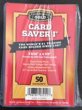 Cardboard Gold 50 Ct Card Saver I Semi Rigid Holders CS1 CS 1  PSA / SGC / BGS