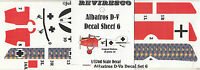 Albatros D-V - Dt. Jäger - 1. Weltkrieg - Decal Set 6 August Raben Jasta 18 1:72