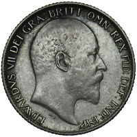 1910 SIXPENCE - EDWARD VII BRITISH SILVER COIN - NICE