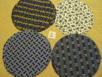 Dog Circles Dogs Canine Brown Blue 100/% Cotton Fabric BTY or Half Yard t3//28