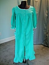 Vintage Jennifer Logan Housecoat, Aqua, size 38
