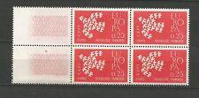 France EUROPA cept 1961 Y&TN°1309/1310 2 blocs de 4 timbres neufs /T5075