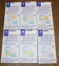 (45) 8 cartes aéronautiques Ajaccio Marseille Toulouse Reims Dijon Nantes ...