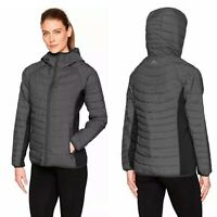 New White Sierrra Womans Zephyr Black Gray Insulated Puffer Jacket Sz L NWT
