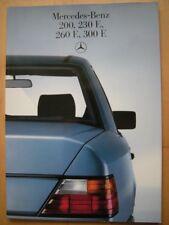 Mercedes-Benz Prospekt W124 E-Klasse 200 230E 260E 300E 230 260 - 36 Seiten 1985