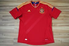 SPAIN NATIONAL TEAM HOME FOOTBALL SHIRT 2012-2013 JERSEY SIZE ADULT XL RED MINT