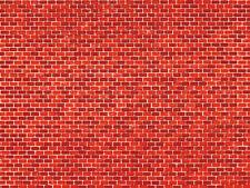 Auhagen 50504 1 Dekorpappe Ziegelmauer rot lose, 220 x 100 mm ++ NEU